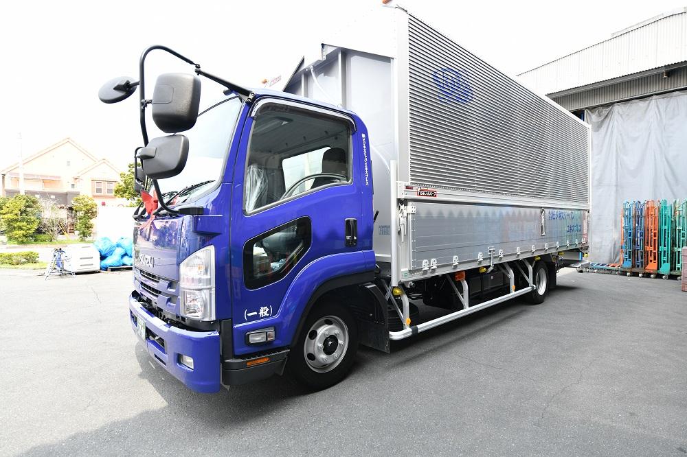 新車4tトラック納車式