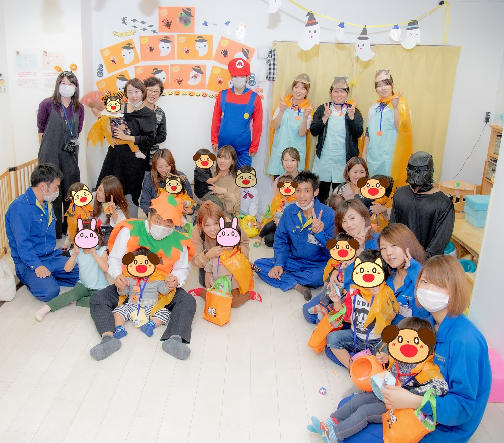 ハッピーハロウィン2019ビジネスジャパンエキスプレスと保育園ドルフィンキッズランド合同!